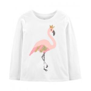 Flamingo Sequin Top