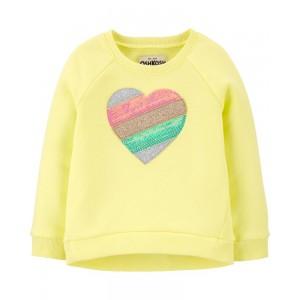 Sequin Heart Fleece Pullover