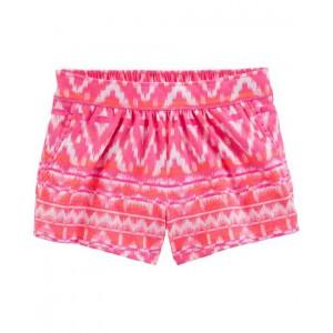 Ikat Pom-Trim Shorts