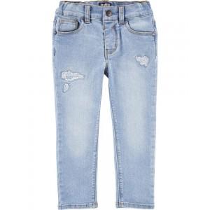 Stretch Rip and Repair Jeans - Slim Fit