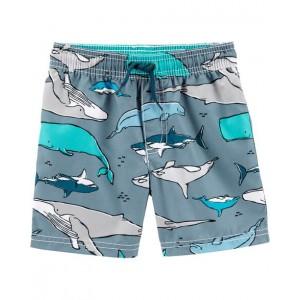 Carters Shark Print Swim Trunks