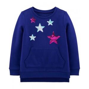 Sequin Star Sweatshirt Tunic