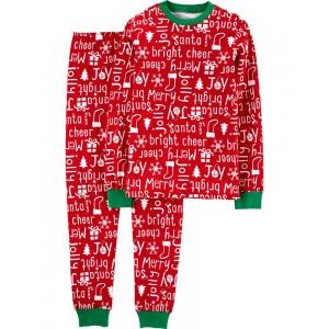 2-Piece Adult Christmas Snug Fit Cotton PJs