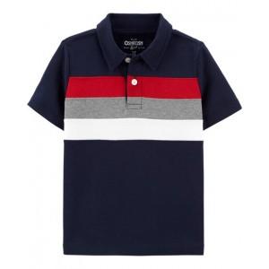 Chest Stripe Jersey Polo