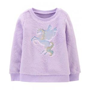 Flying Unicorn Fuzzy Sweatshirt