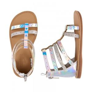 OshKosh Holographic Gladiator Sandals