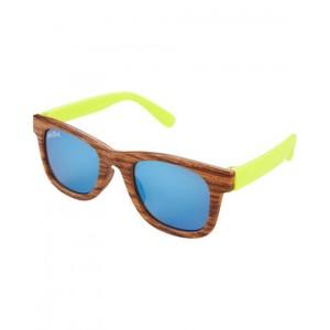 Classic Wood  Neon Sunglasses