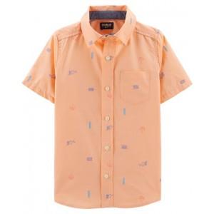 Beach Button-Front Shirt