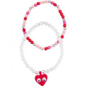 2-Pack Heart Bracelets