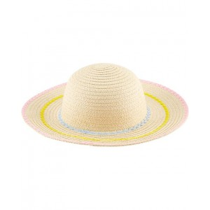 Striped Straw Floppy Hat