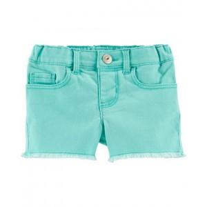 Frayed Edge Shorts, Turquoise