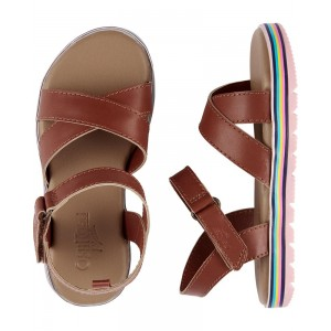 OshKosh Rainbow Sole Sandals