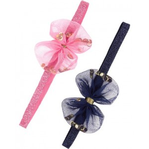 2-Pack Tulle Bow Headwraps