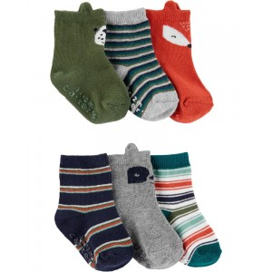 6-Pack Animal Socks