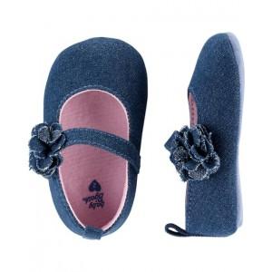 OshKosh Glitter Chambray Baby Shoes