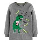 Halloween Dinosaur Bats Jersey Tee