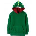 Dinosaur Pullover Fleece Hoodie