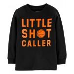 Little Shot Caller Basketball Jersey Tee