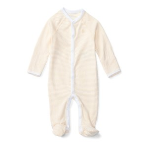 Striped Footed Cotton Coverall