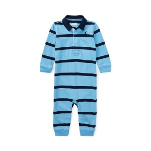 Striped Cotton Rugby Coverall