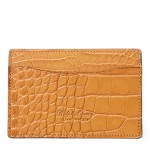 Burnished Alligator Card Case