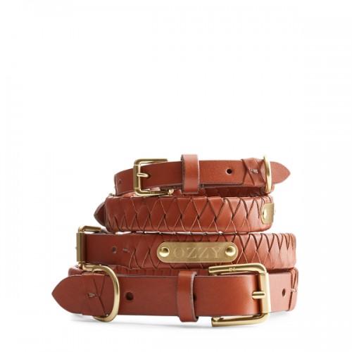 폴로 Sable Woven Leather Dog Collar