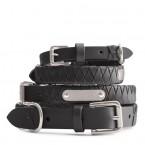 Sable Woven Leather Dog Collar