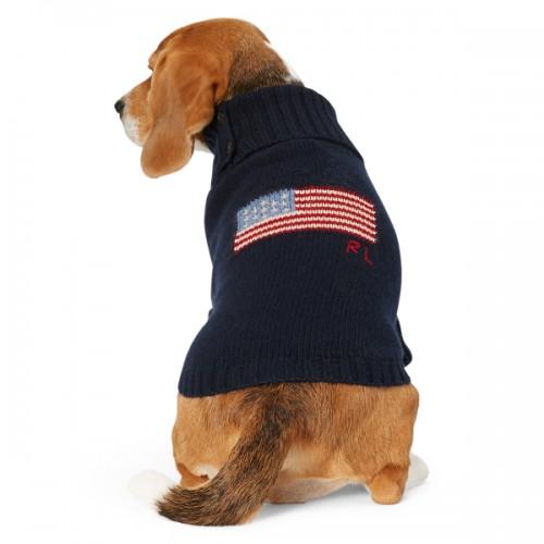 폴로 Flag Wool-Cashmere Dog Sweater