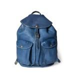 Indigo Leather Rucksack
