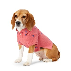 Marlin-Embroidered Dog Polo