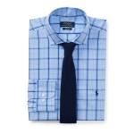 Classic Fit Plaid Poplin Shirt Cornflower/Navy Multi