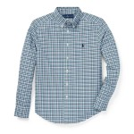 Plaid Cotton Oxford Shirt