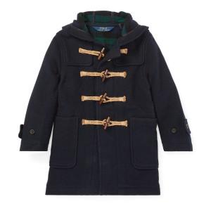 Wool-Blend Hooded Toggle Coat