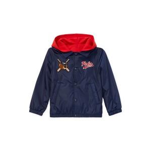 Polo Bear Hooded Coach Jacket