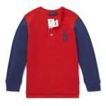 Cotton Mesh Henley Shirt