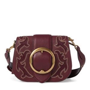Suede-Trim Leather Lennox Bag