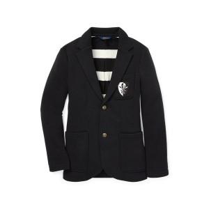 Brass-Button Fleece Sport Coat