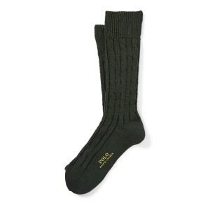 Cable-Knit Boot Socks