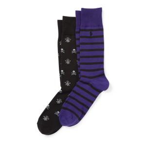 Pirate  Skull Socks 2-Pack