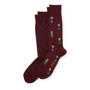 Preppy Bear Sock 2-Pack