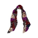 Embroidered Patchwork Scarf