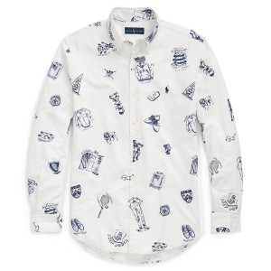 Classic Fit Print Oxford Shirt