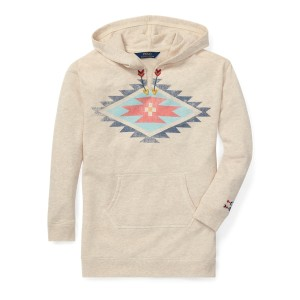 Cotton-Blend Graphic Hoodie