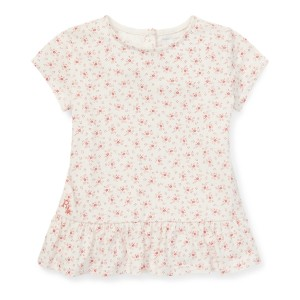 Floral Cotton Peplum T-Shirt
