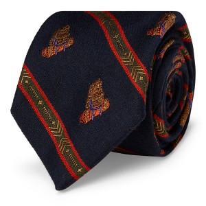 Wool-Silk Narrow Tie