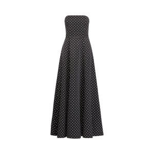 Polka-Dot Faille Gown