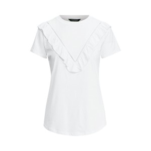 Eyelet-Trim Cotton T-Shirt