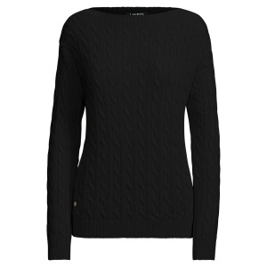 Cable Cotton Boatneck Sweater