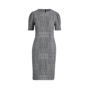Glen Plaid Jacquard-Knit Dress