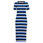 Striped Cotton Midi Dress